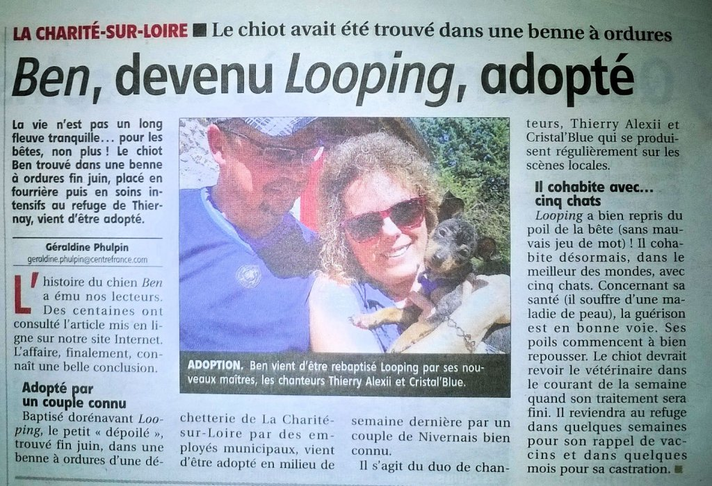 Adoption de Looping (Ben) - Le 15 juillet 2015